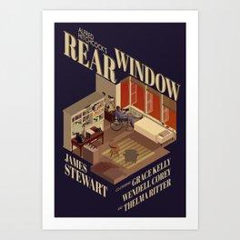 Rear Window Hitchcock Tribute Poster Art Print