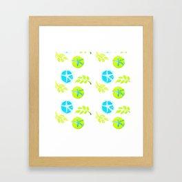 Aqua Stars Framed Art Print
