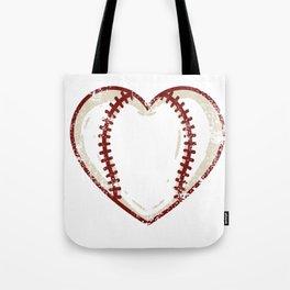 Vintage Baseball Heart product Gift Funny Softball Love design Tote Bag