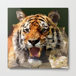 Polygon tiger Metal Print