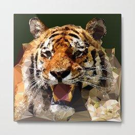 Polygon tiger Metal Print