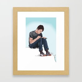Tom on Grass Framed Art Print