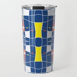 Nautical blue tiled modern plaids Travel Mug