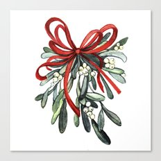 Branch of mistletoe Canvas Print