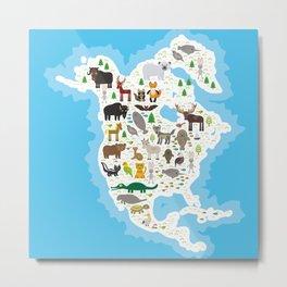 bison bat manatee fox elk horse wolf partridge fur seal Polar bear Pit viper snake Mountain goat Metal Print
