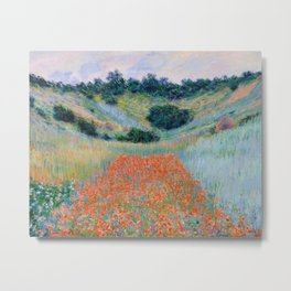 Poppy Field in a Hollow near Giverny Claude Monet Metal Print