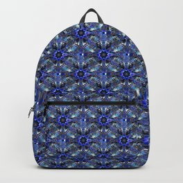 Skulls In A Blue Fabric Pattern Backpack