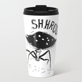Shroom!! Creepy amanita mushroom Travel Mug