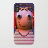 headphones iPhone & iPod Cases featuring Headphones by Aguinaldo Goncalves