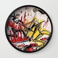 kill bill Wall Clocks featuring Kill Bill by Joe Badon