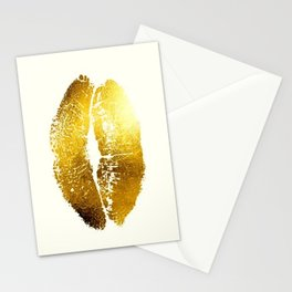 Lips Gold Stationery Cards