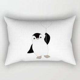 Penguin and a Balloon Rectangular Pillow