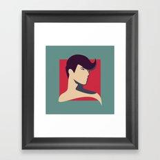 Pose Babe Framed Art Print