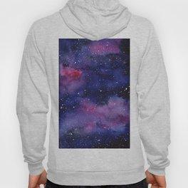 Watercolor Galaxy Nebula Pink Purple Sky Stars Hoody