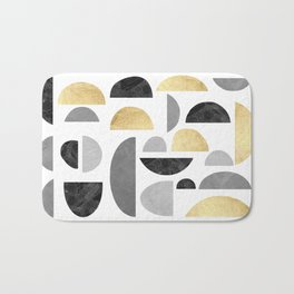 Gold and marble gray I Bath Mat