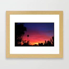 Sunset From My Driveway Framed Art Print