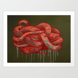 Mountain Snake Art Print