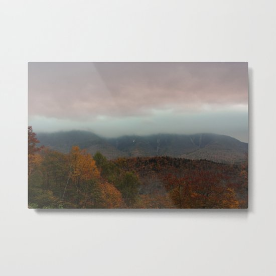 Fog Rolling Over The Hills Metal Print