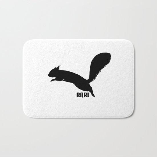 SQRL ™  // squirrel Bath Mat