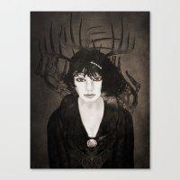 melissa smith Canvas Prints featuring Melissa by Viviana Gonzalez