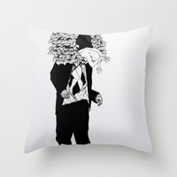 home sweet home Throw Pillows featuring home sweet home 01 by Tom Kitchen