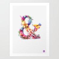 mushrooms Art Prints featuring Mushrooms & by Sasha Vinogradova