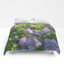 Summer lilac nature pattern Comforters