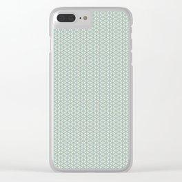 Delicate Pastel Mint green miniature pattern Clear iPhone Case
