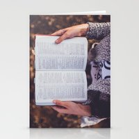 bible verses Stationery Cards featuring Bible by Johnny Frazer
