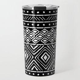 African Mud Cloth // Black Travel Mug