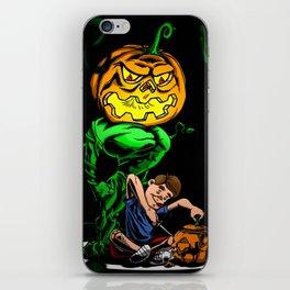 Pumpkin Head iPhone Skin