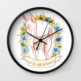 How To Be A Decent Person - Deer Wall Clock