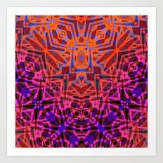 Ethnic Tribal Pattern G316 Art Print