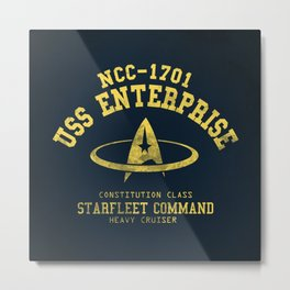 USS Enterprise spaceship Metal Print