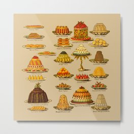Vintage Cakes Desserts Kitchen Metal Print
