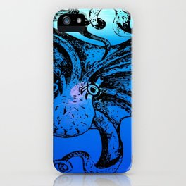 Octopus design, Octopus decor, Ocean decor, Ocean Design, blue iPhone Case