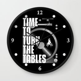 Time To Turn The Tables Wall Clock