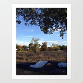 nature naps Art Print