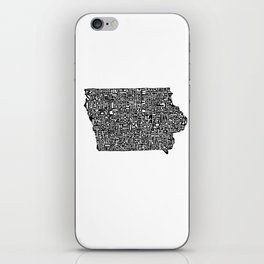 Typographic Iowa iPhone Skin