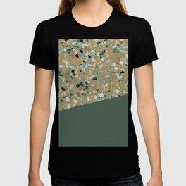 Terrazzo Texture Military Green #4 T-shirt