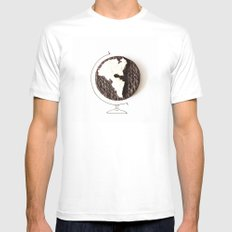 Oreo world MEDIUM Mens Fitted Tee White