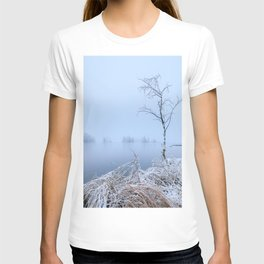 Calm foggy lake landscape T-shirt