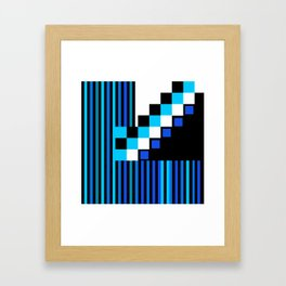 Playing with Colors | Shapes | Black and White | I Feel Blue Framed Art Print