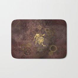 Steampunk Zodiac Leo Bath Mat