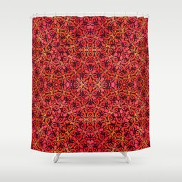 Floral Fireworks Pattern Shower Curtain