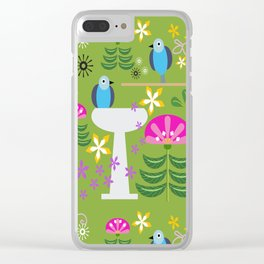Bird Bath Clear iPhone Case