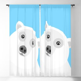 Polar Bear Illustration Blackout Curtain