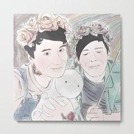 Pastel Dan & Phil Metal Print