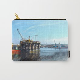 Oil Rig Seascape Carry-All Pouch