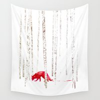 run Wall Tapestries featuring There's nowhere to run by Robert Farkas